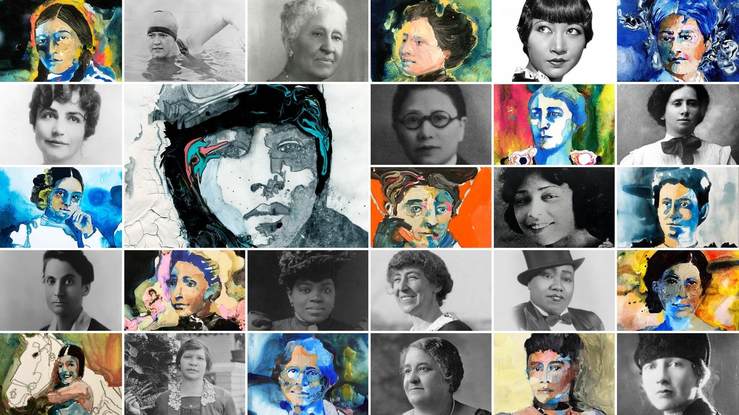 Unladylike - American Masters - collage of significant women in American history